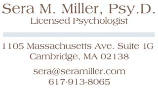 Sera Miller Cambridge Psychologist Harvard Square